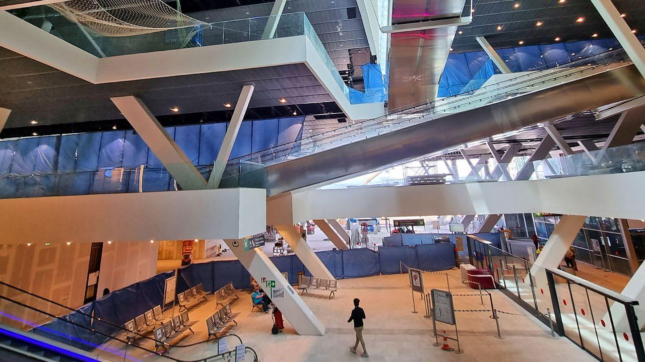 Interior de la nueva estación ferroviaria de Vigo