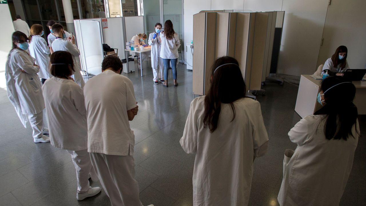 Personal sanitario del Hospital San Pau de Barcelona