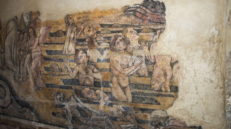 Un detalle de la representación de la resurrección de los muertos en el Juicio Final