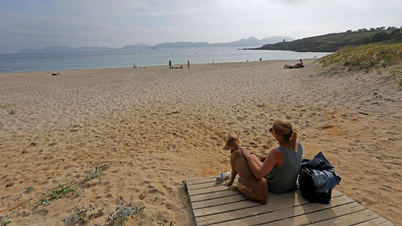 La playa de Melide, en la Costa da Vela, la favorita de Domingo Villar