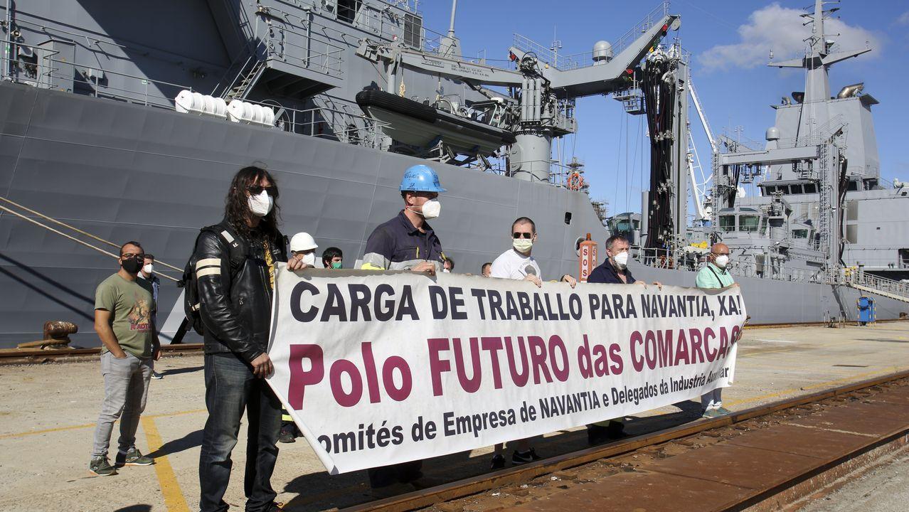 La fragata, con base en Ferrol, durante las recientes maniobras con el buque argelino El Moudamir