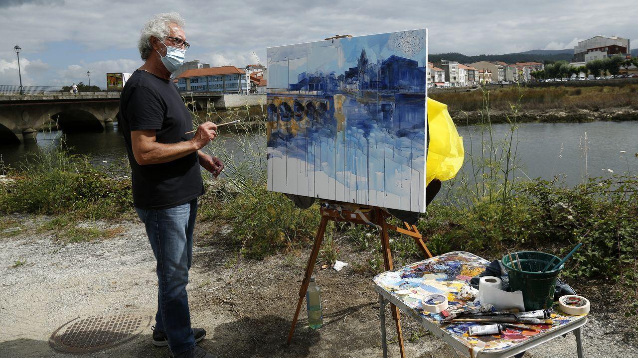 Concurso de pintura al aire libre en Noia 2021.La urbanización está ubicada junto al paseo de Brañón, a escasos metros del mar