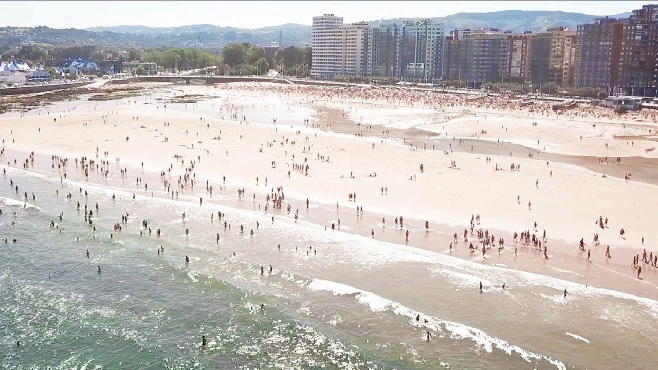 Gijón vende el mar en su último vídeo turístico
