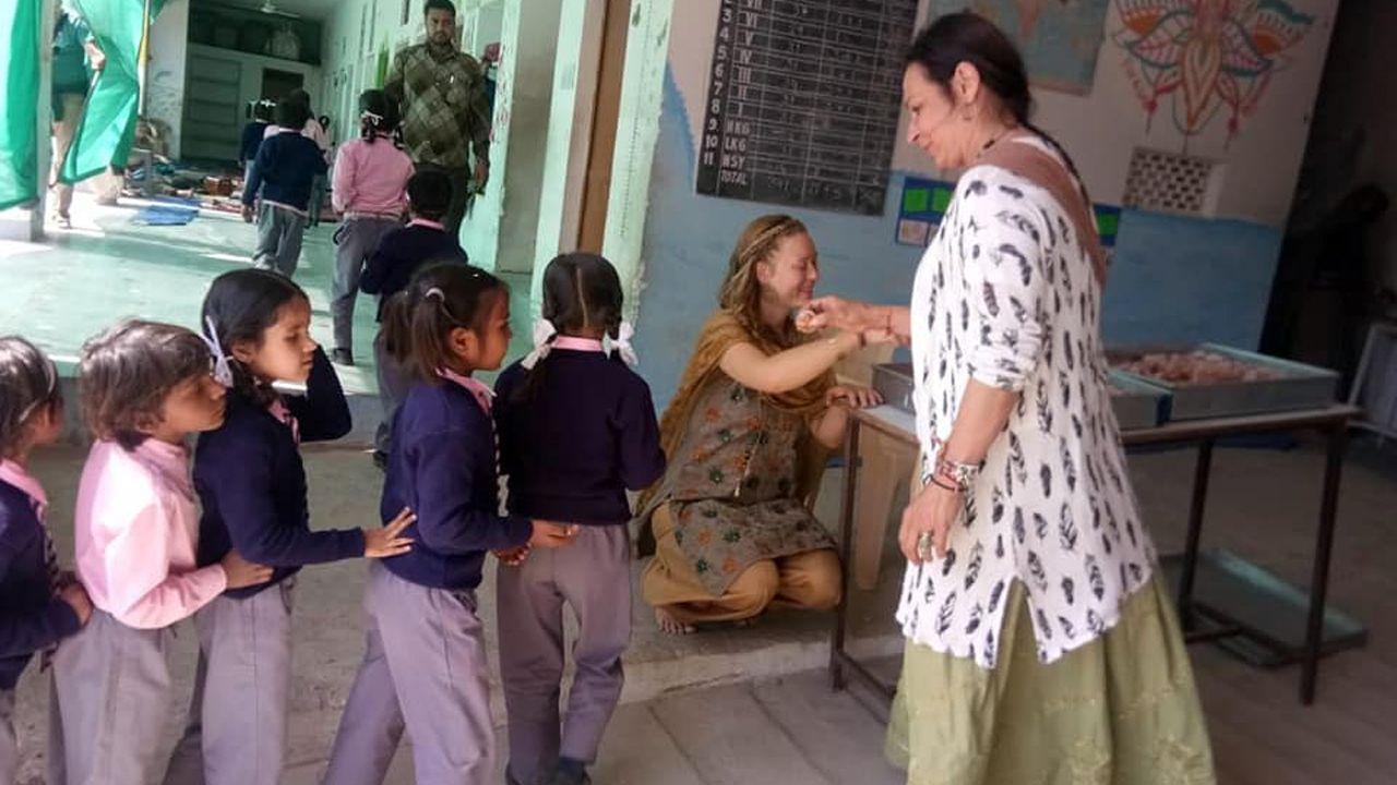 La Fundación Fior di loto trabaja junto a voluntarios asturianos en la India