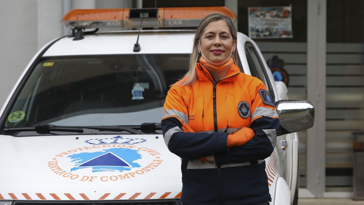Begoña del Río, responsable de Protección Civil de Santiago