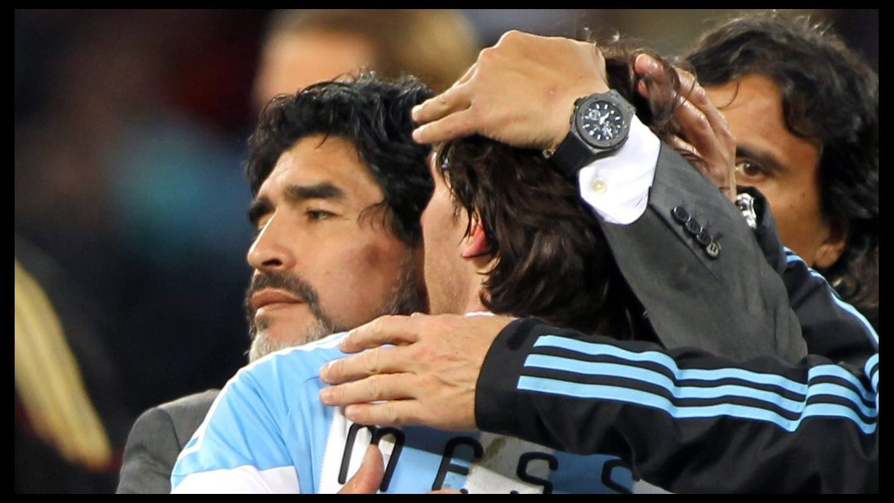 Consolando a Messi en el Mundial de Sudáfrica