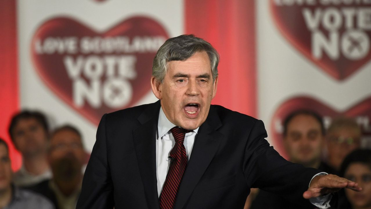 El ex primer ministro Gordon Brown