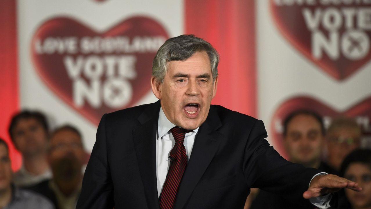 El ex primer ministro Gordon Brown