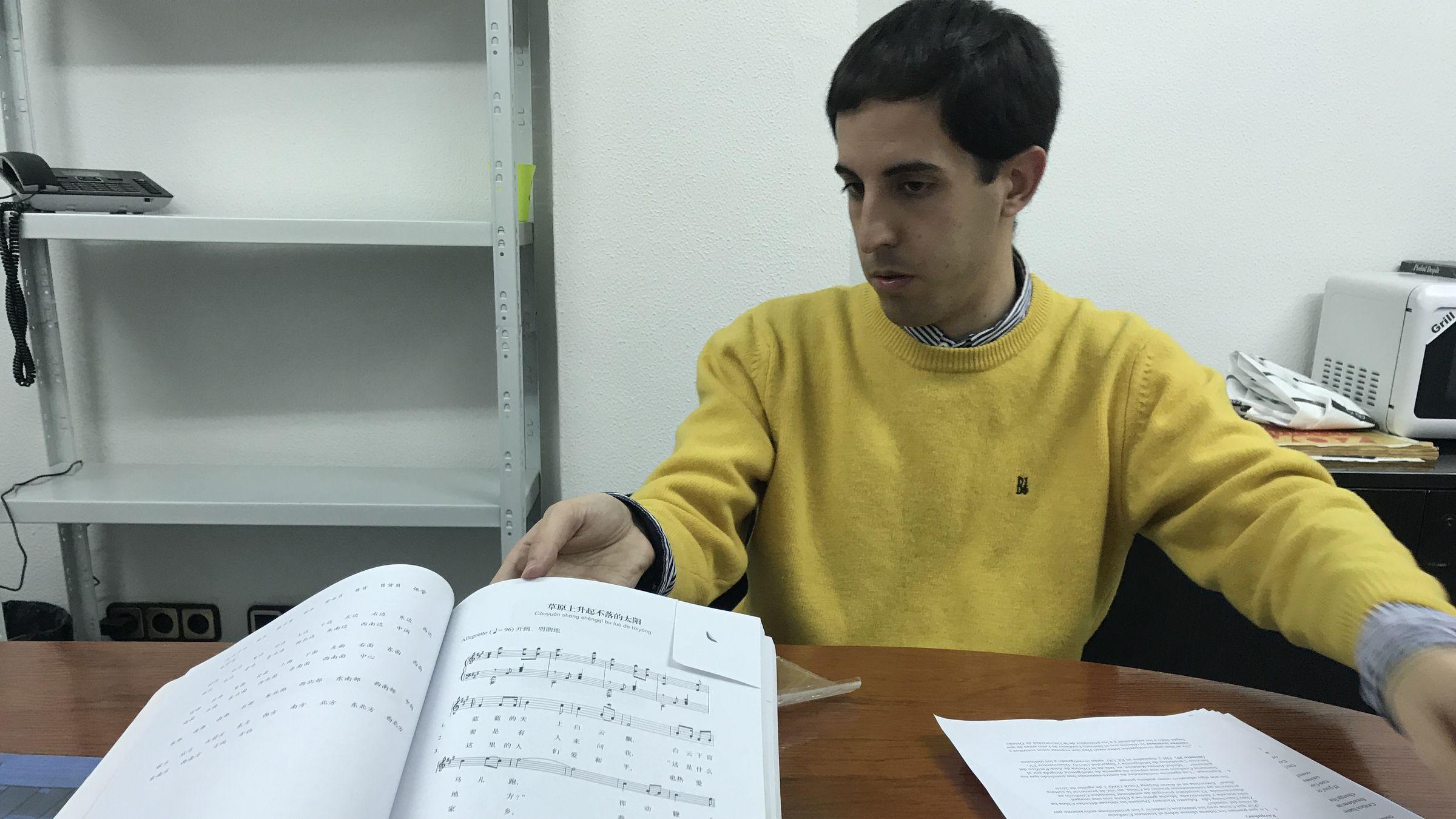 Fernando Romeo, miembro de la plataforma «Stop Instituto Confucio»