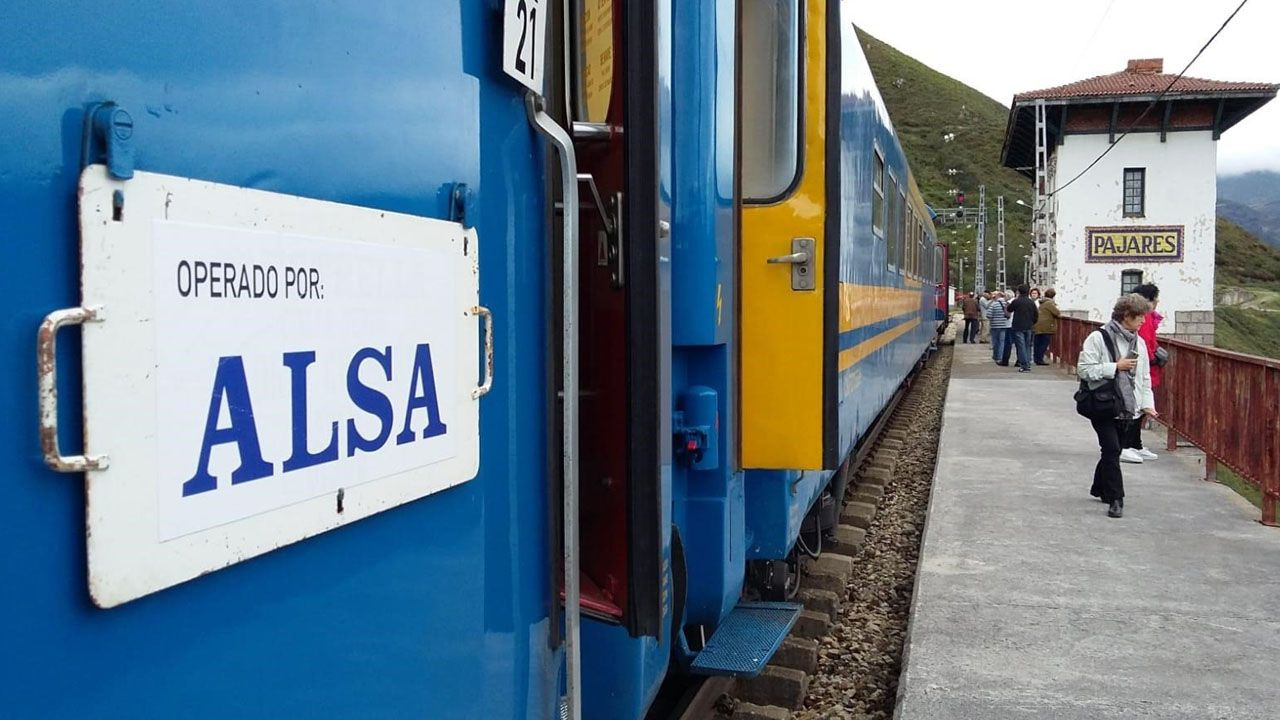 El tren operado por Alsa