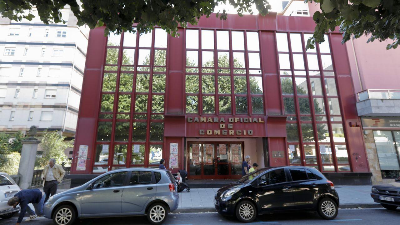 El edificio de la Cámara de Comercio de Lugo