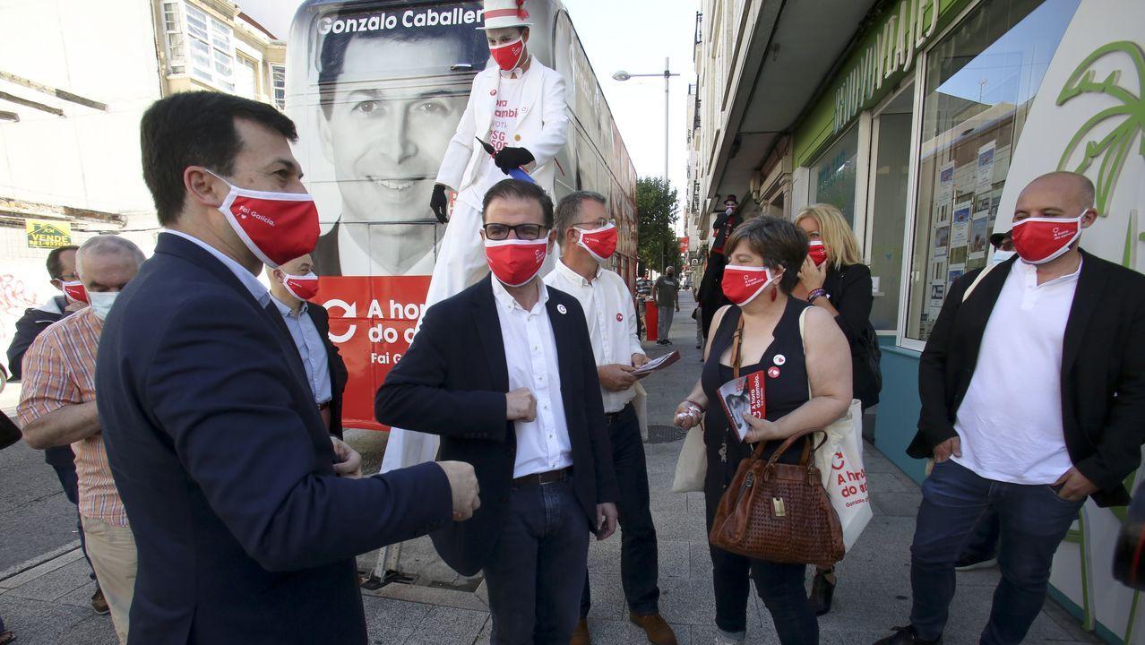 Gonzalo Caballero, el martes en un acto en Ferrol
