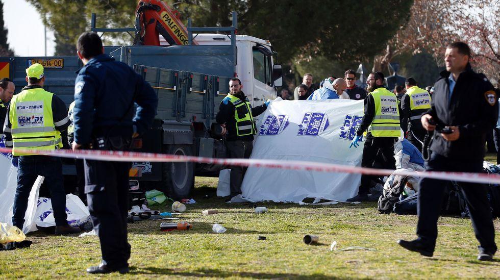 Ataque con un camión en Jerusalén
