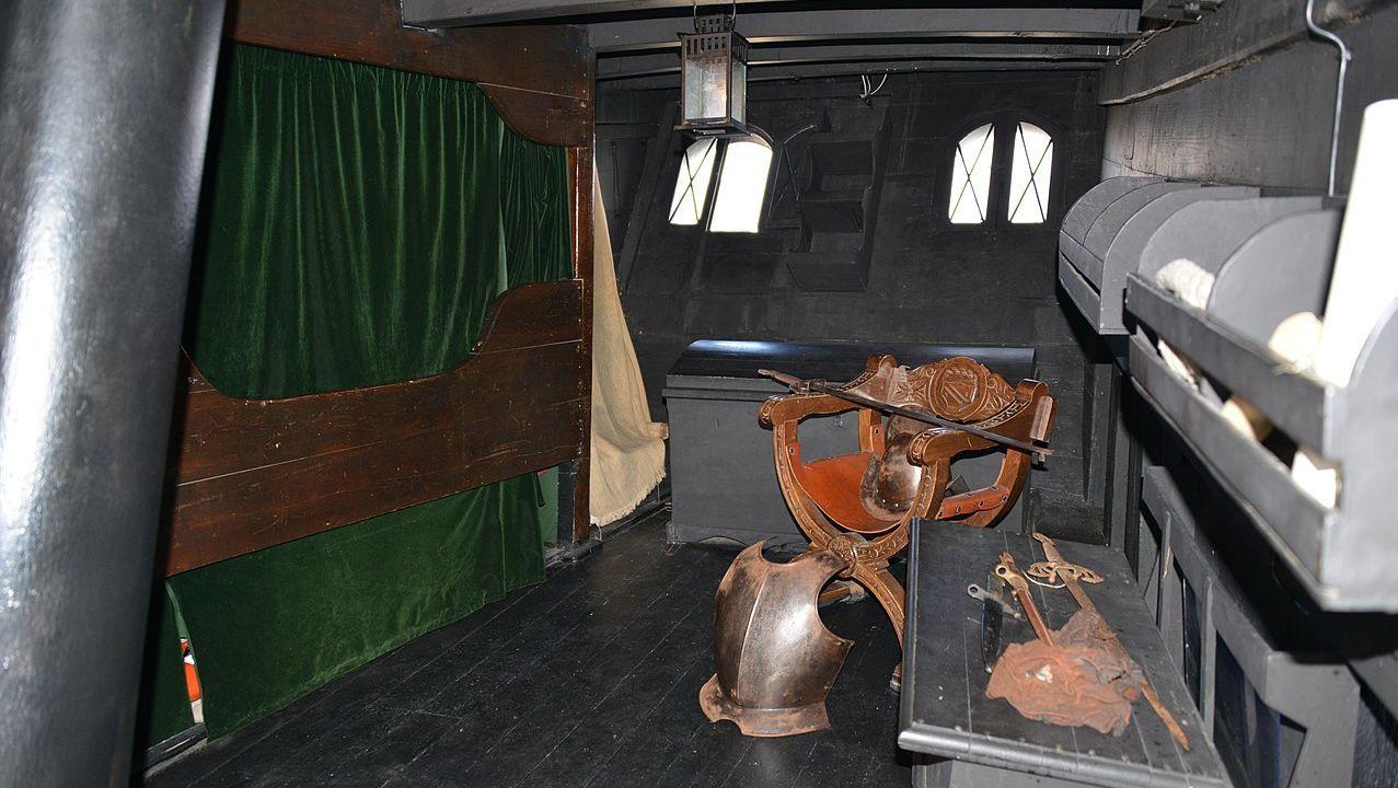 Réplica del camarote del capitán de la nao Victoria
