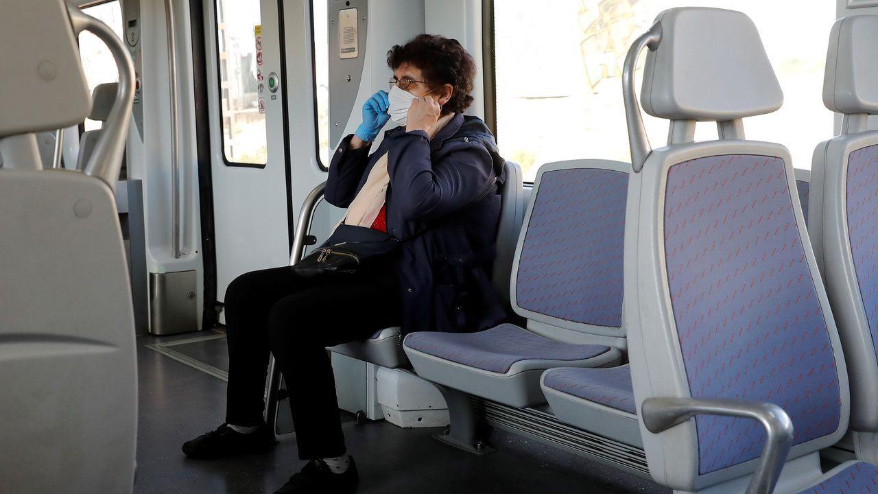 Tren de cercanías en Madrid este sábado