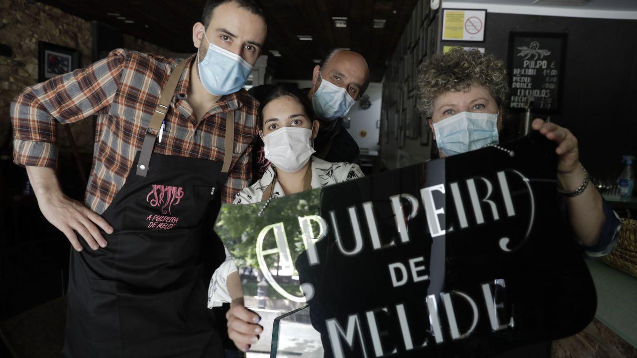 Equipo de A Pulpeira de Melide de A Coruña