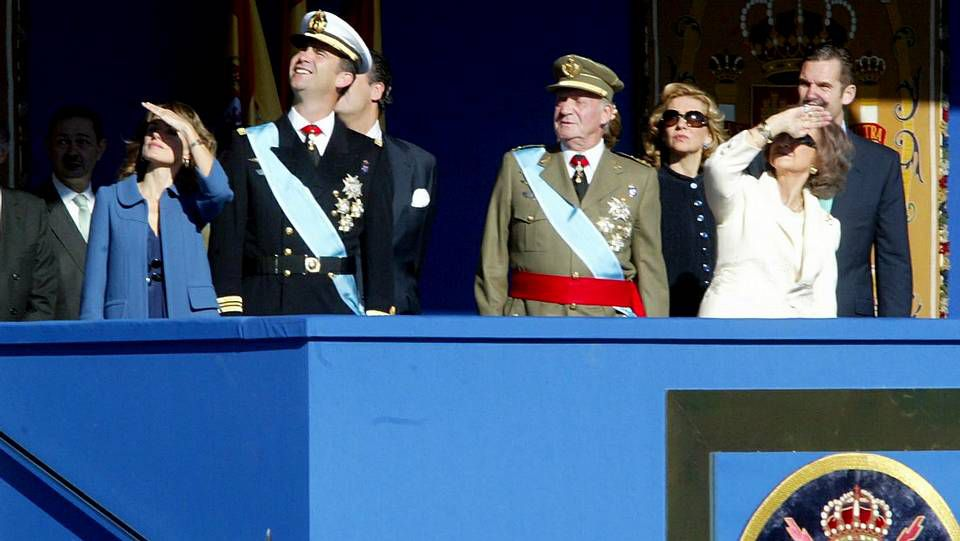 ¿Doctrina Botín para la infanta?.Una de las últimas fotografías en las que los duques de Palma comparten con el resto de la familia real protagonismo en un acto oficial.