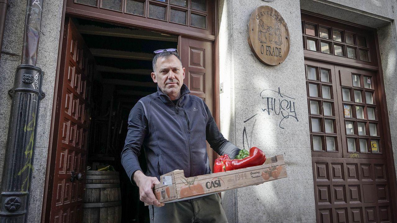 Así fue el primer día del estado de alarma sin restaurantes abiertos en Ourense