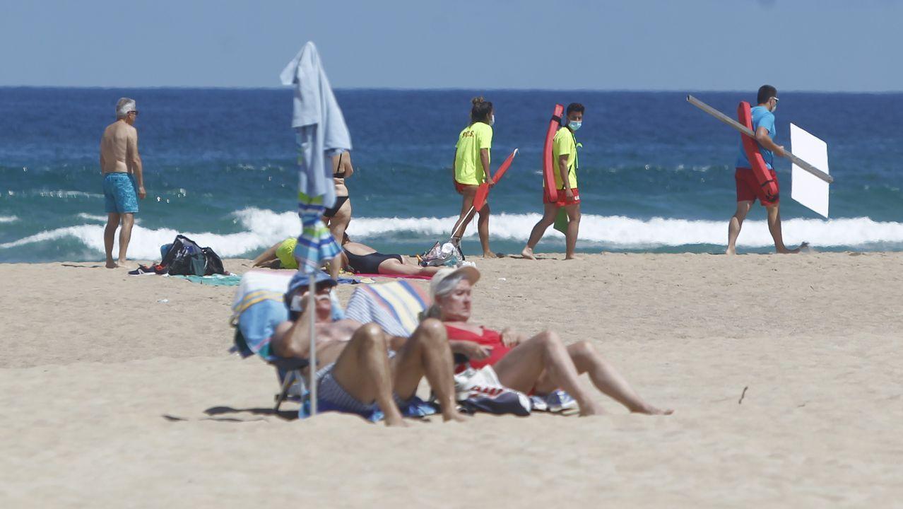 Las imágenes de la final del Pantín Classic.La playa de Coroso, en Ribeira