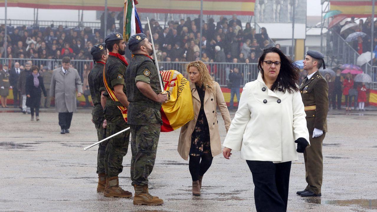 «De niña ya cogía el uniforme de papá».El coronel Manuel Perez