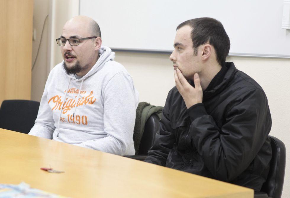 Rafael Viana y Diego Filloy contaron a sus compañeros su experiencia de seis meses.