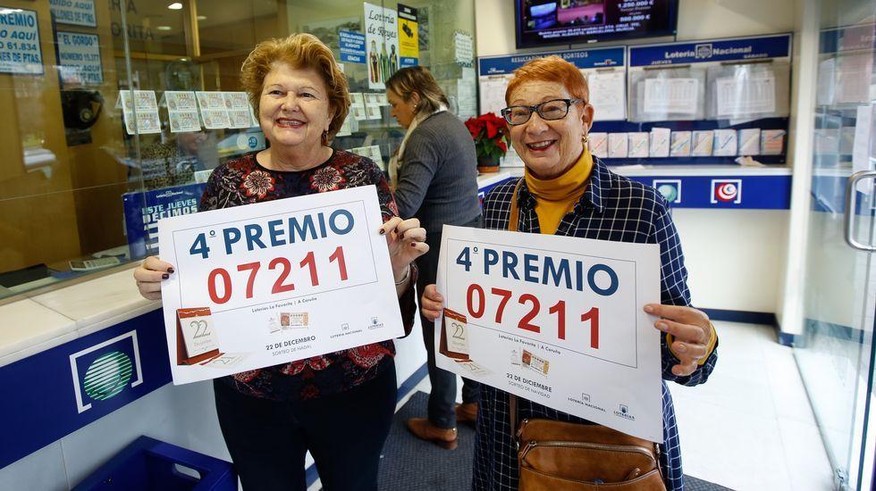 La Favorita, en A Coruña, vendió un décimo del cuarto premio