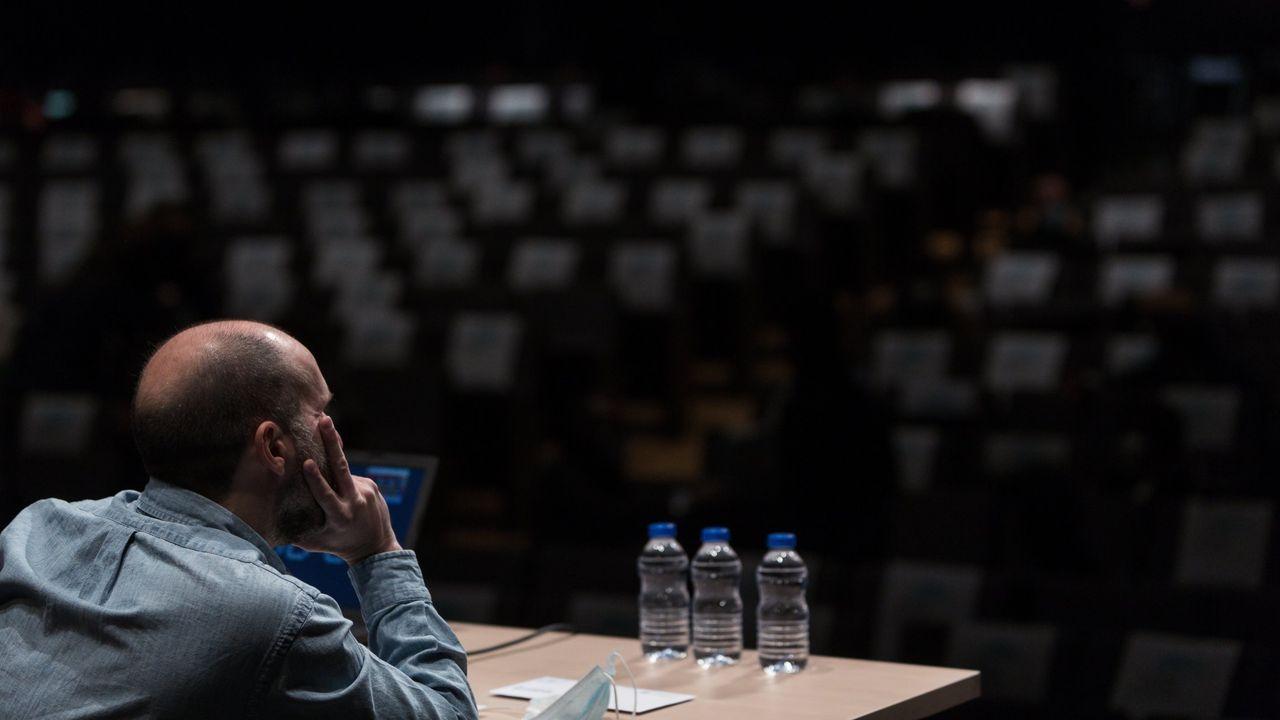 Rueda de prensa de Jácome.Imagen de Jácome, durante uno de los plenos celebrados en el Auditorio de Ourense