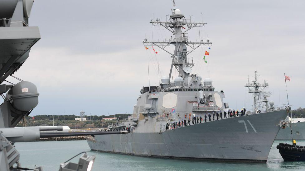 Imagen de archivo del USS Ross, otro de los navíos norteamericanos que participó en el ataque