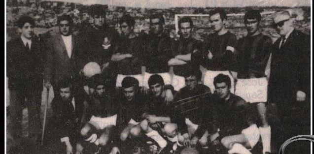 A plantilla que logrou o primeiro campionato de Liga, na 66-67