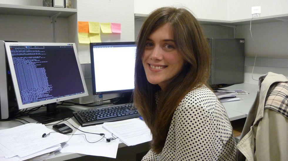 La ingeniera informática Sabela Ramos Garea, en una imagen cedida