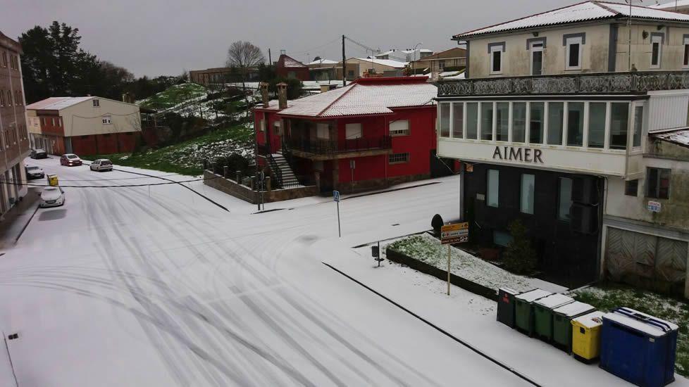 Intensa nevada en Curtis