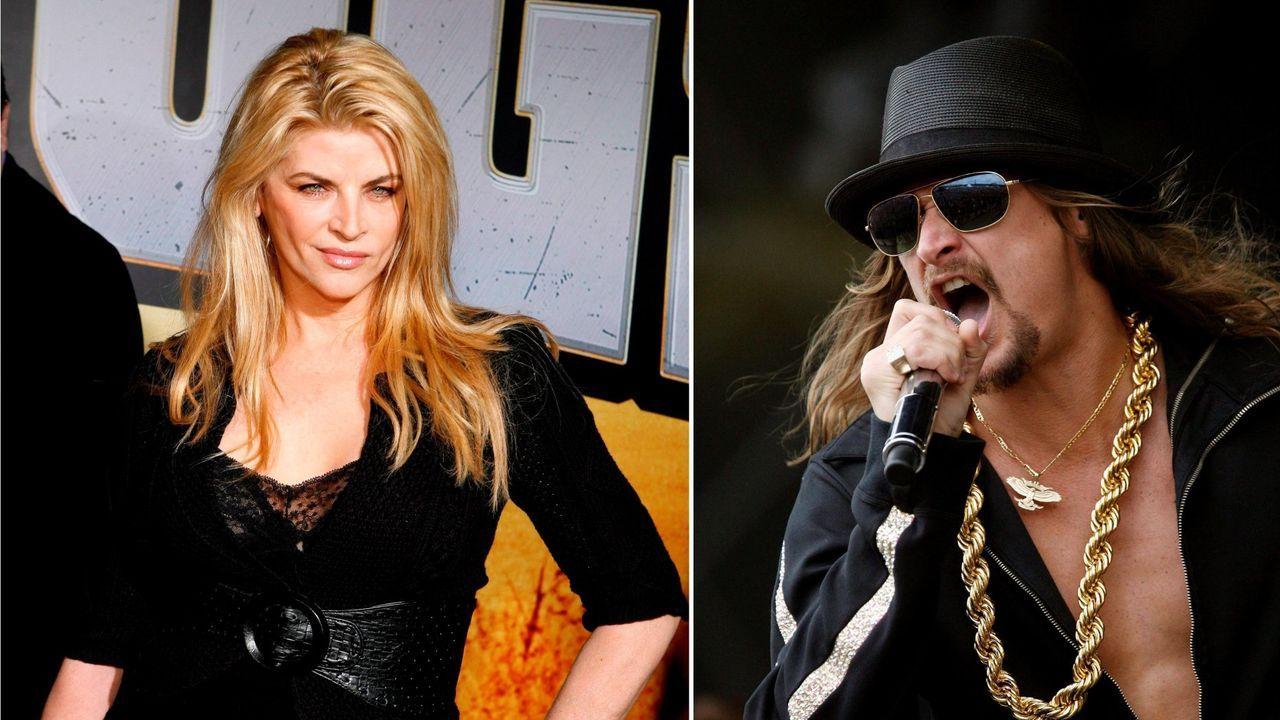 La actriz Kirstie Alley y el músico Kid Rock son algunos de los apoyos de Trump en el mundo del espectáculo