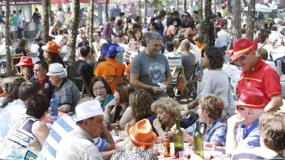 Ambiente en la Festa da Empanada de Chantada, en una imagen de archivo