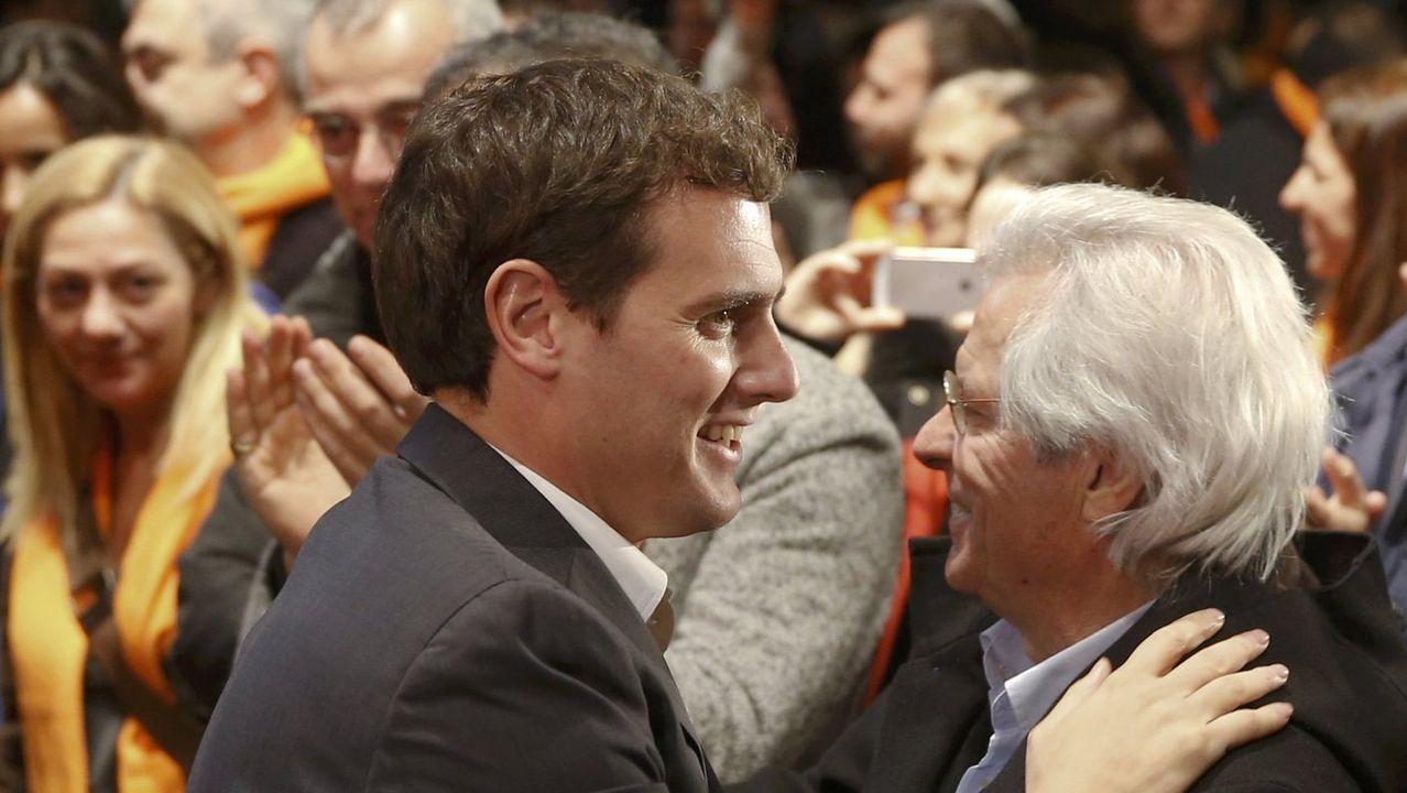 Albert Rivera y Javier Nart, en el 2015