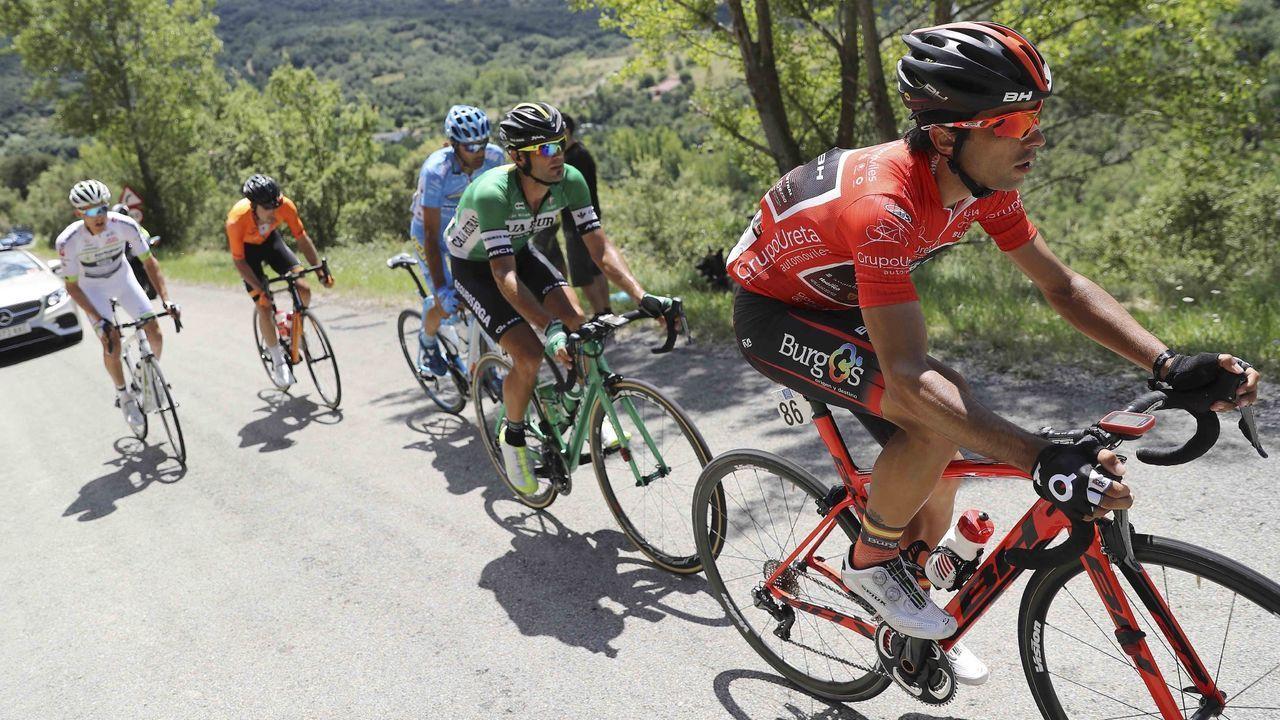 Las carreteras más bonitas de España.Pablo Torres en la Vuelta a España del 2018