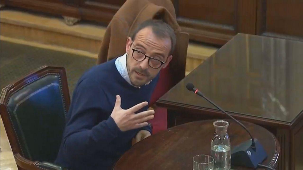 Jaume Mestre, en su comparecencia ante el tribunal del 1-0