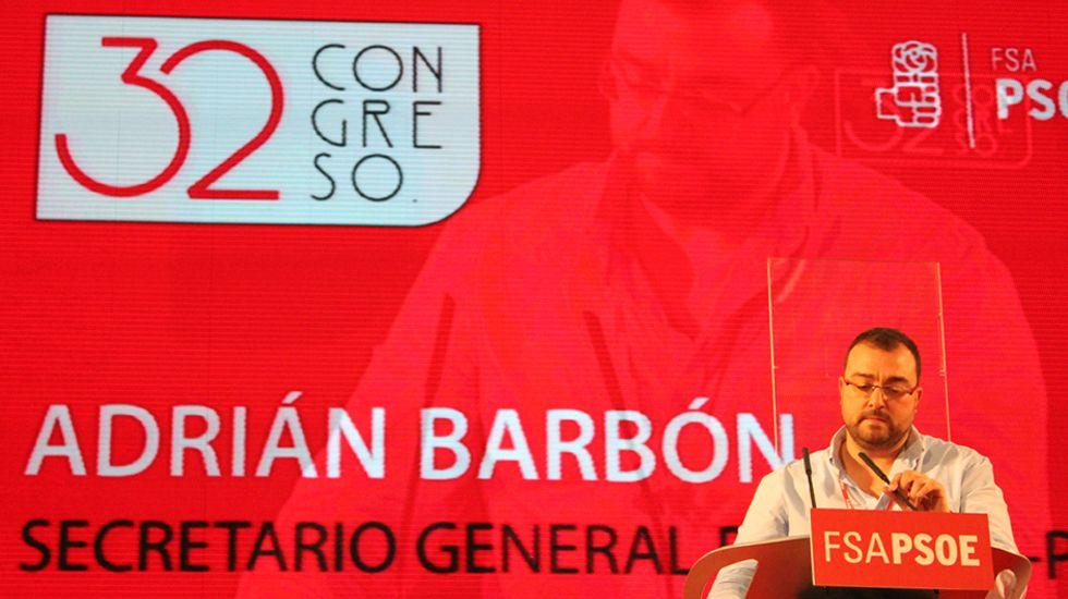 Adrián Barbón, en su primer discurso como secretario general de la FSA-PSOE