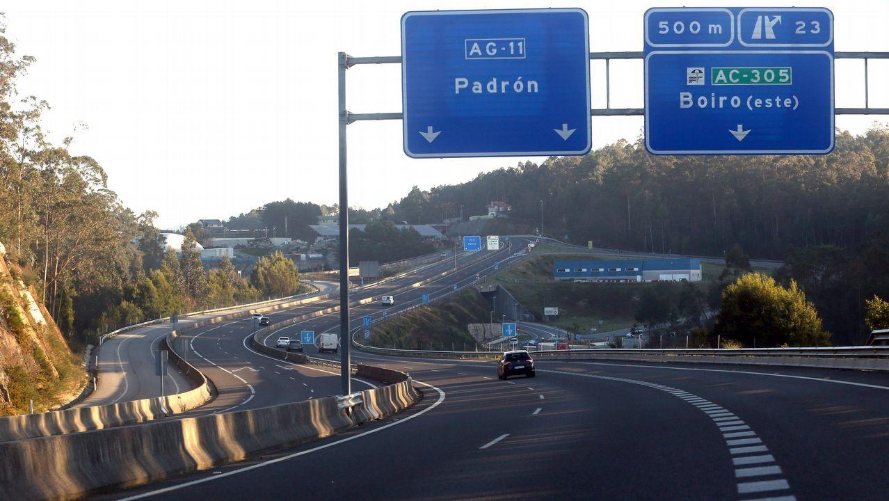 Imagen de archivo de la autovía de Barbanza