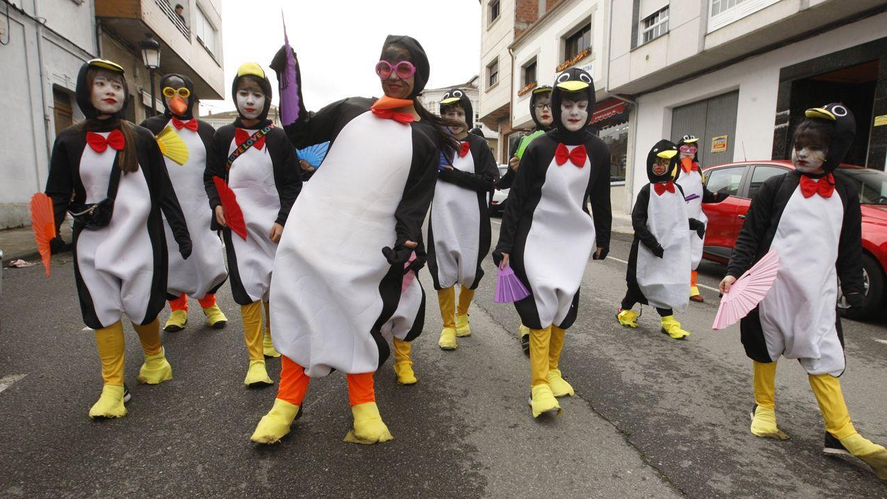 Todas las fotos del desfile de Carnaval de Pantón.Centro de Padua, sin nadie por la calle