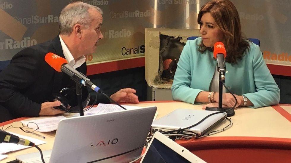 Susana Díaz, durante una entrevista en Canal Sur Radio.Susana Díaz, durante una entrevista en Canal Sur Radio