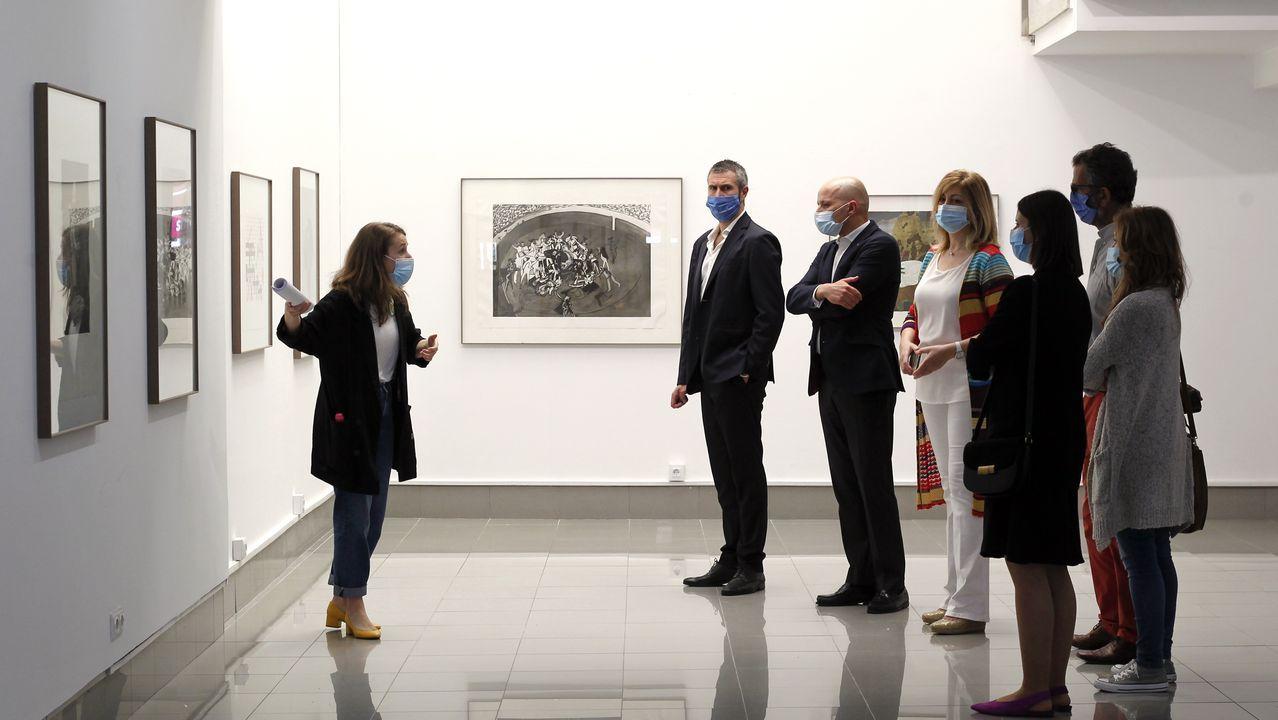 Visita guiada a la exposición en la Rivas Briones.El edificio que alberga el Museo Carlos Maside forma parte de las instalaciones de O Castro, en Sada, y es un proyecto del arquitecto Andrés Fernández Albalat