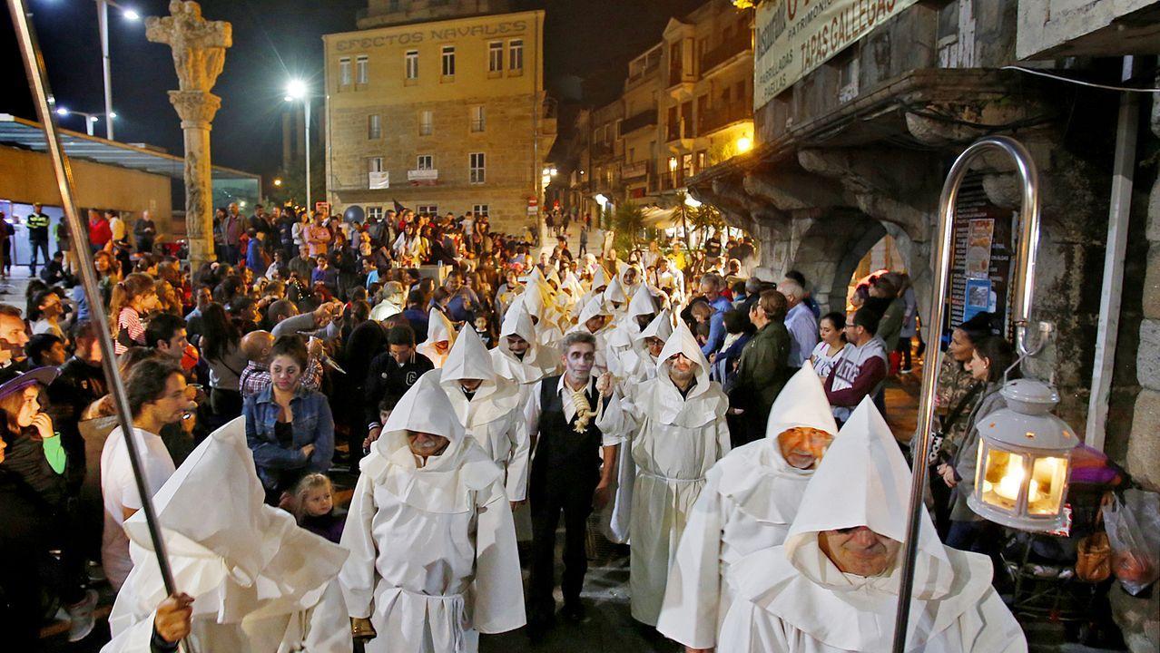 Vecinos deCampos de Mirabelreparten sustos y diversión en Halloween