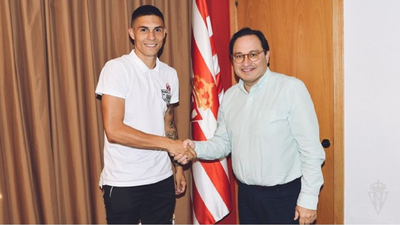 Djurdjevic, en su presentación como jugador del Sporting