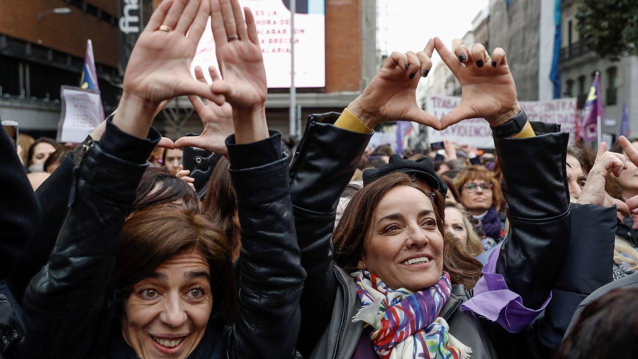 Lectura del manifiesto contra el machismo en el periodismo que han firmado miles de informadoras españolas en Madrid