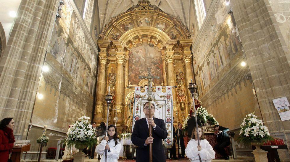 La cabecera de la iglesia es una de las zonas donde se actuará en la próxima fase de las obras de rehabilitación