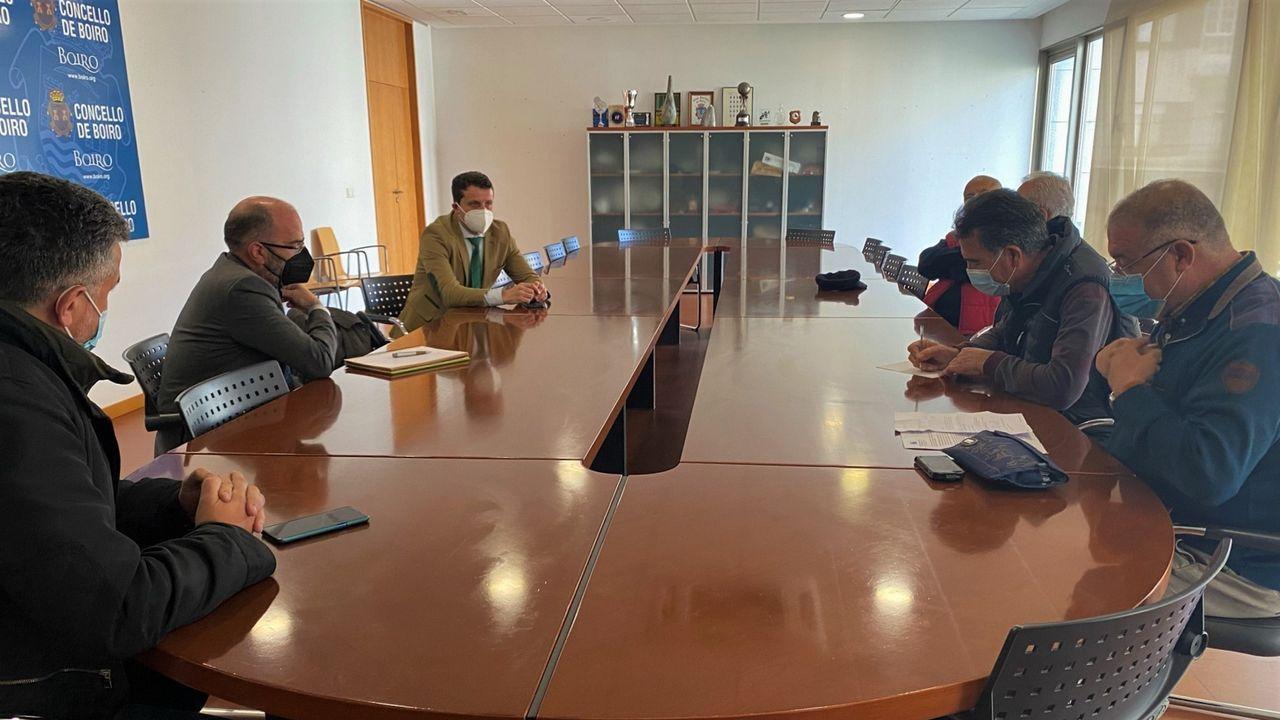 Los bienes de interés cultural de Barbanza.Gonzalo Trenor y Luis Oujo visitaron la planta de Lousame