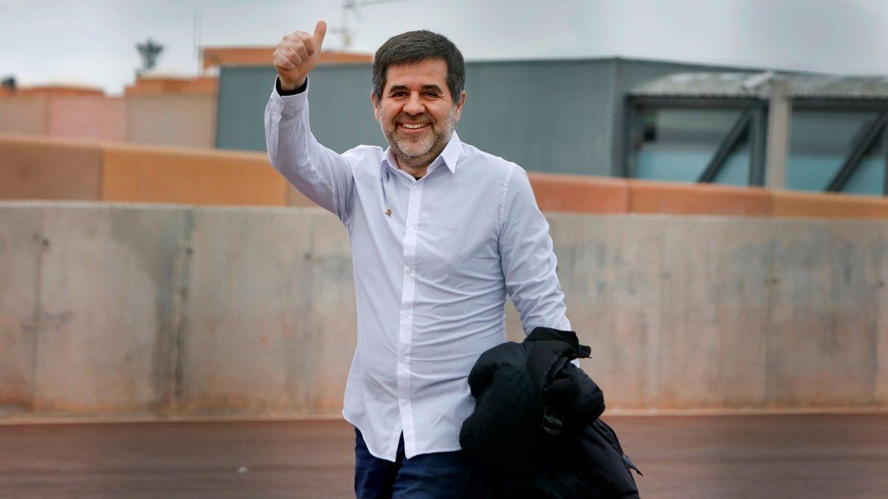 Primer permiso de Jordi Sánchez. El expresidente de la ANC, disfruta desde ayer de un permiso de 48 horas, tras cumplir más de una cuarta parte de su condena por el «procés»