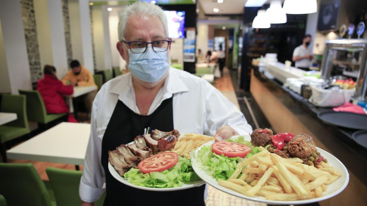 En Os Tilos se ofrece un menú del día por 9,50 euros