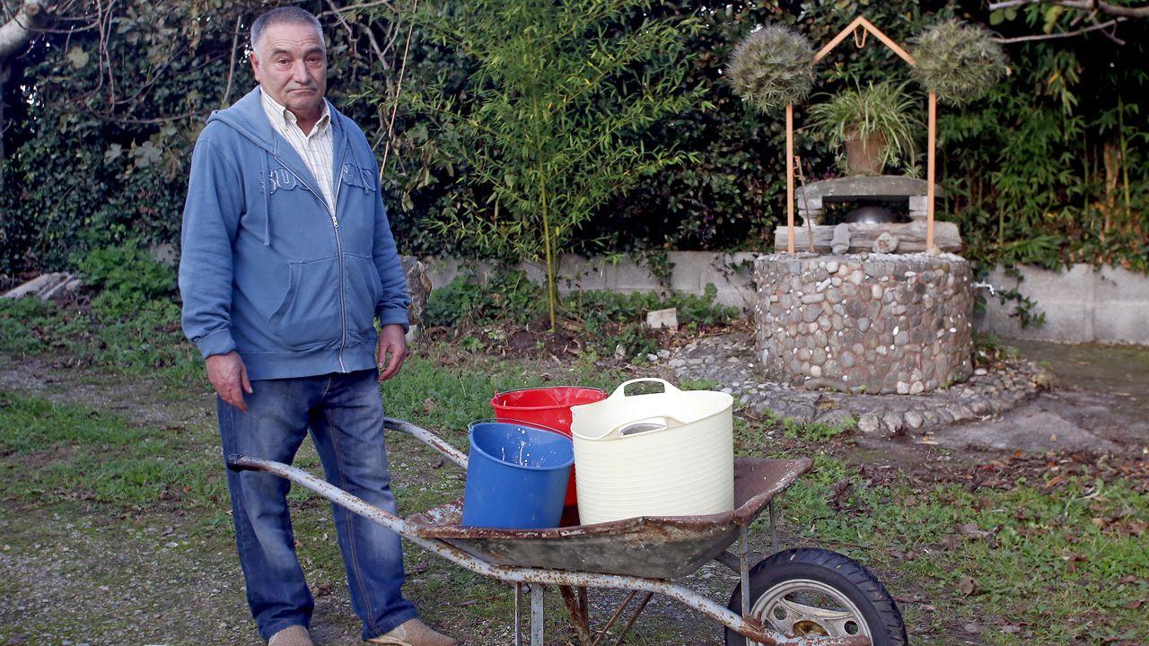 Los protagonistas de la sequía en Galicia.Imagen de archivo de la bodega Terras do Cigarrón