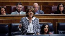 La ministra de Justicia, Dolores Delgado, en una de sus intervenciones en el Congreso